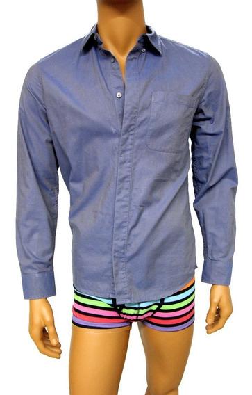 Camisa A | X Armani Exchange Azul Brilloso Talla M Seminueva