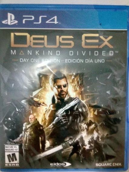 Deus Ex Mankind Divided Day One Edition Ps4 Nuevo Sellado