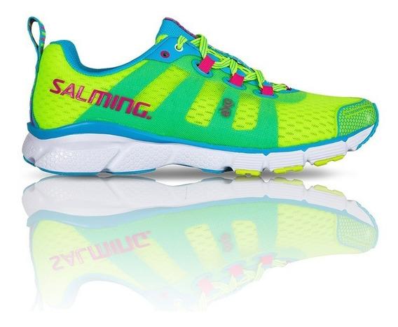Zapatilla Salming Trail Running Mujer Enroute Fluo Yellow