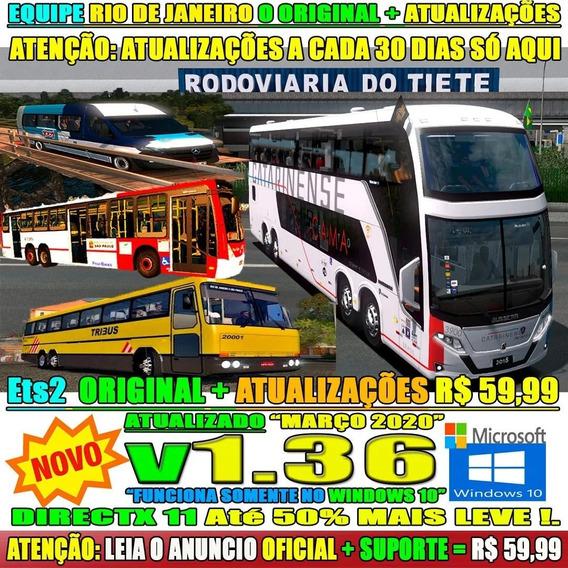 Euro Truck Simulator 2 Brasil 2020 Duo Bus + Caminhões 1.36