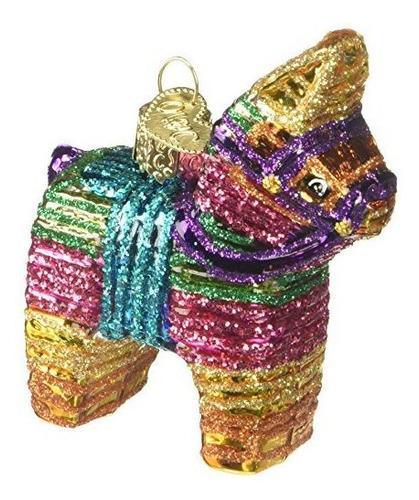 Viejo Mundo De Navidad Piñata Diseño De Vidrio Soplado Orn