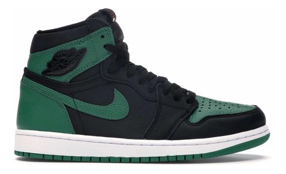 Jordan 1 Retro High Pine Green Black Original