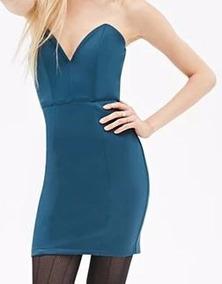 c709e2829 Vestido De Noche Azul Forever 21 Cortos - Vestidos en Mercado Libre ...