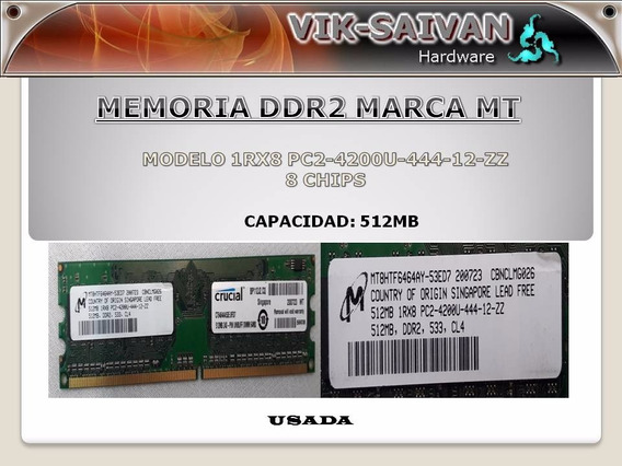 Memoria Ddr2 Mt 512mb Pc2-4200 533mhz 8 Chips 5
