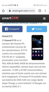 Huawei P10 Android 9. 1