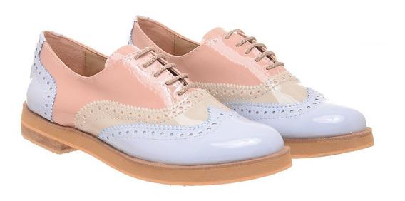 Zapatos Mujer Charol Bajos Mocasin Botas Abotinado Heben