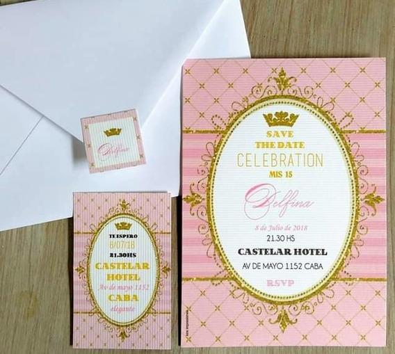 Invitaciones Tarjetas Casamiento Quince Años 15 Años