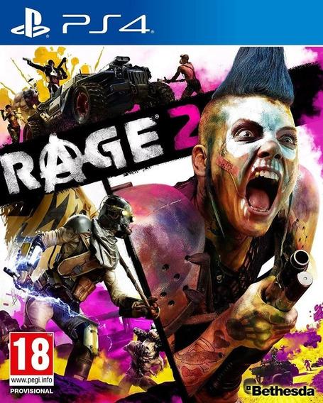 Rage 2 - Ps4 - Pronta Entrega Mídia Física Lacrado Em Inglês