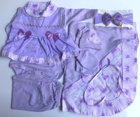 Saída De Maternidade Bebê Feminino Kit 7 Peças Envio Hoje!