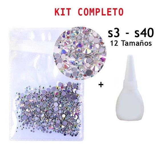Cristal Swarovsky 1700 Piedras 12 Tamaños Ss3- Ss40 + Envío