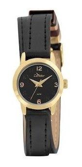 Relógio Condor Feminino Kit Dourado Couro Co2035kxb/k2p