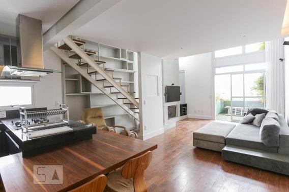 Apartamento No 8º Andar Mobiliado Com 1 Dormitório E 2 Garagens - Id: 892968720 - 268720