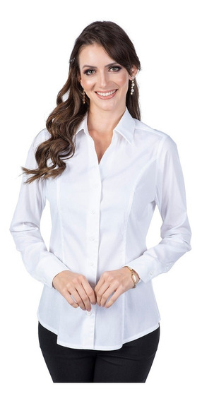 Kit Camisa Feminina Social Sunny Days Atacado 3 Peças 05936