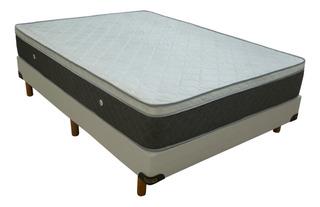 Conjunto Sommier 2 Plazas 140x190 Somier Resorte Euro Pillow