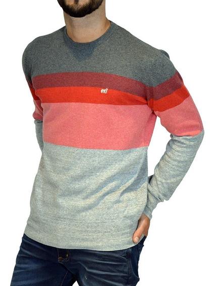 Sweater Pullover Rayado Algodón 14688n-2 Hombre Mistral