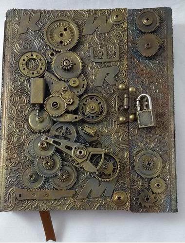Imagem 1 de 9 de Grimório  Artesanal  Steampunk Mecanismo