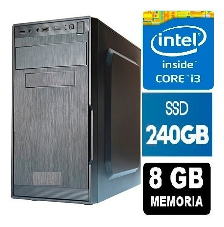 Cpu Core I3, 8gb, Ssd 240gb * 10 Vezes Mais Rápido *