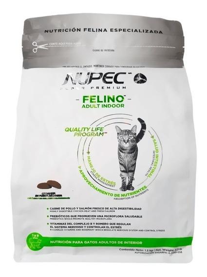 Nupec Indoor Gato Adulto Gato 1.5kg Alimento Pienso Felino *
