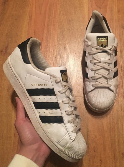 Padrisimos Tenis adidas Superstar Stripes Blanco Negro 23!!