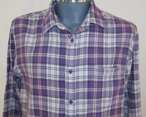 Flannel Authentic Wear Camisa A Cuadros Talla L