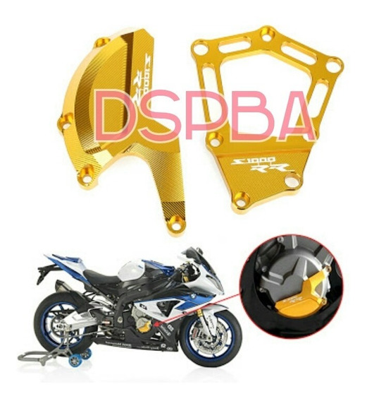 Protetor Motor Bmw S1000rr S1000r Dourado Tampa Slider Later