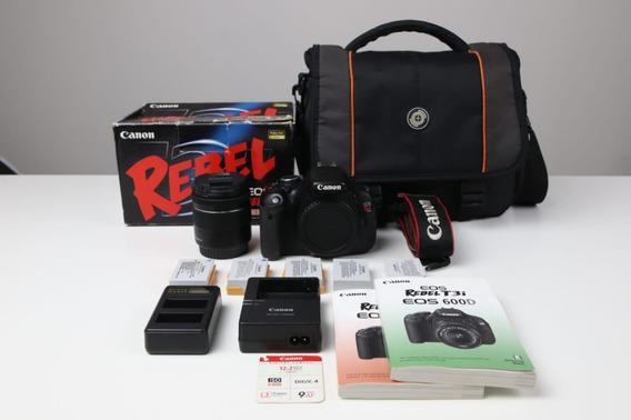 Câmera Canon T3i - Lente 18-55mm - 5 Baterias + Brindes