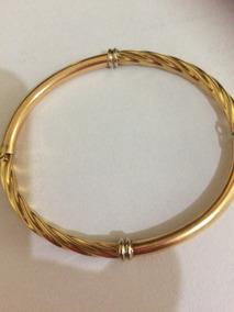 Pulseira Bracelete Feminina Ouro 18k 750 Peso 8,5g