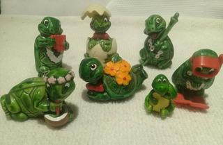 Tortugas Colección Huevos Kinder Miniaturas Muñecos Quilmes