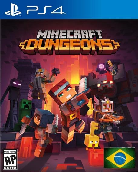 Minecraft Dungeons Ps4 1 Dublado Em Português Envio Rápido