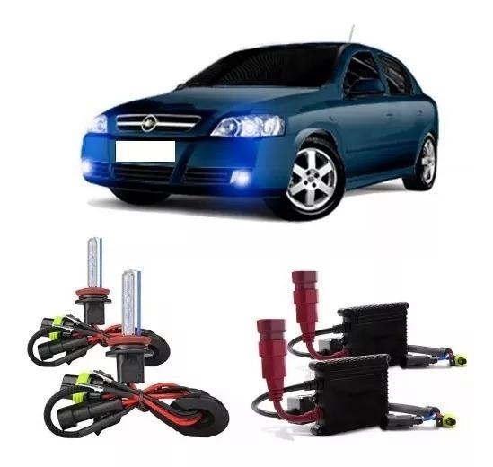 Kit Xenon Farol Milha Astra 2003 A 2012 8000k Top + 2 Brind