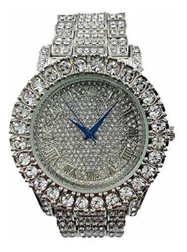 St10327 - Reloj Para Hombre, Diseño De Piedras Grandes Plate