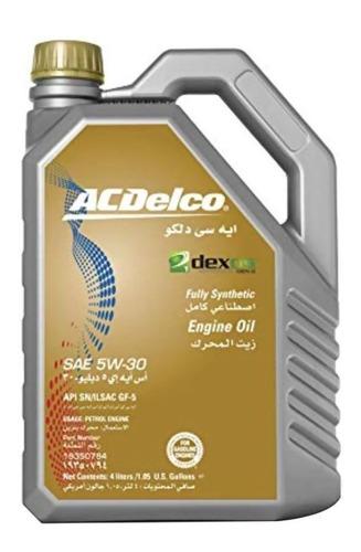 Imagen 1 de 4 de Aceite 5w30 Sintetico Original Acdelco 4lts General Motors