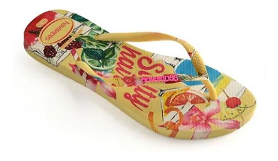 Chinelo Slim Lemon Havaianas Summer 012588