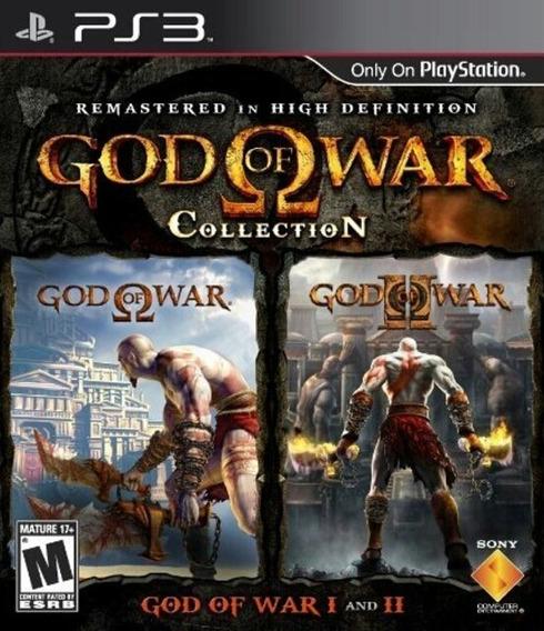 God Of War Colletion 1 E 2, Ps3, Psn, Mídia Digital Completo