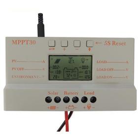 Controlador Carga Painel Solar Mppt 30a 12/24v