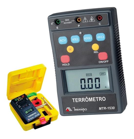 Terrômetro Digital Portátil 400v Mtr-1530 Minipa