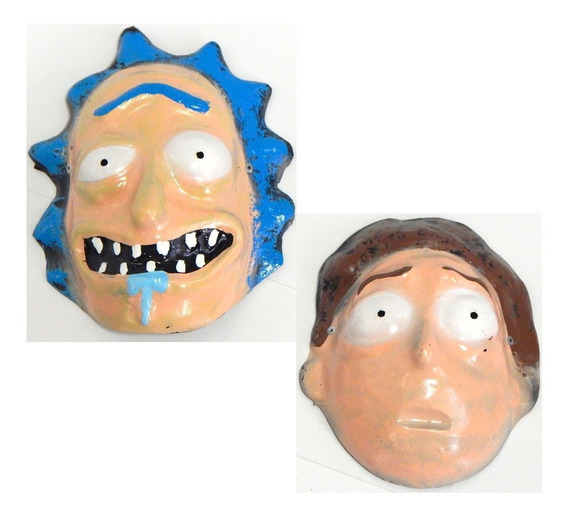 Rick And Morty Wubba Lubba Dub Disfraz 2 Mascaras Halloween