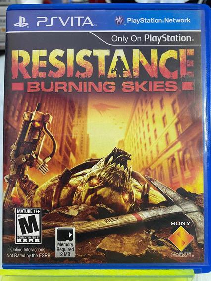 Resistance Burning Skies Psvita Ps Vita Mídia Física