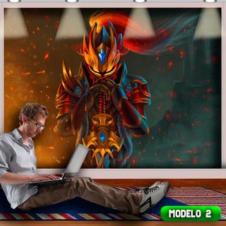Papel Parede Gamer +frete Dota2 Autocolante 3.00x2.80mt Top