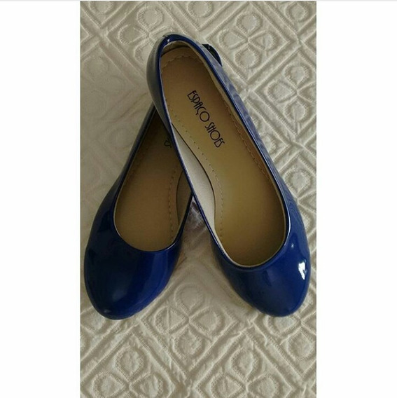 Sapatilha Azul Bico Redondo - Tamanho 37