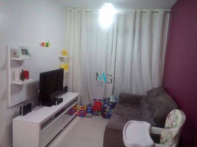 Apartamento 2 Quartos, No Condomínio West Residencial, Em Campo Grande, Rio De Janeiro - Ap0028