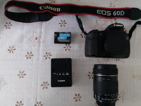 Canon 60d Seminova + Lentes 18-135mm