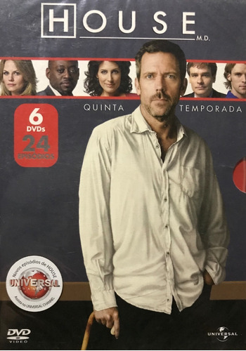 Dvd  House 5ª Temporada Completa - Novo Lacrado