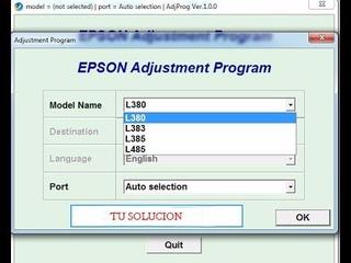 Mantenimiento Y Reset Impresoras Epson