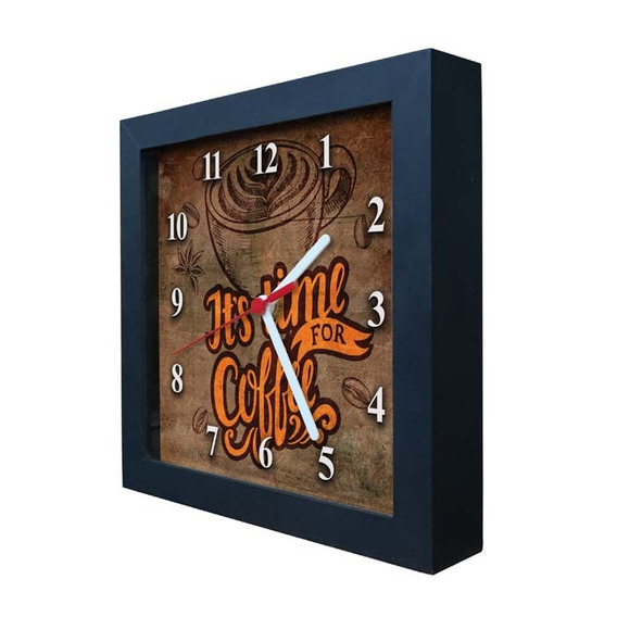 Relógio Decorativo Caixa Alta Tema Café - Qw017
