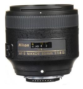 Lente Nikon 85mm F/1.8g Fx Af-s Autof Parasol Garant1ano Nfe