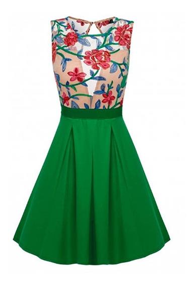 Pura Gaga: Vestido De Fiesta Oriental Tipo Retro Floreado