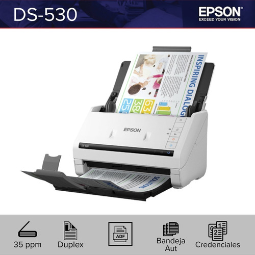 Escaner Epson Ds-530 35ppm Resolución 600dpi Usb 3.0 Duplex