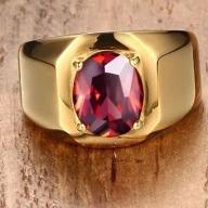 Anel De Aço Inoxidável E Chapeamento Hem Ouro 17mm