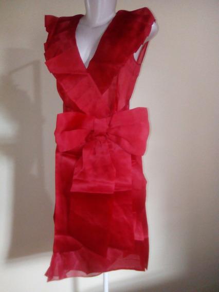 Vestido Transparente Seda Alta Costura (itália) Importado.
